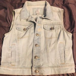 Lauren Conrad distressed denim jacket